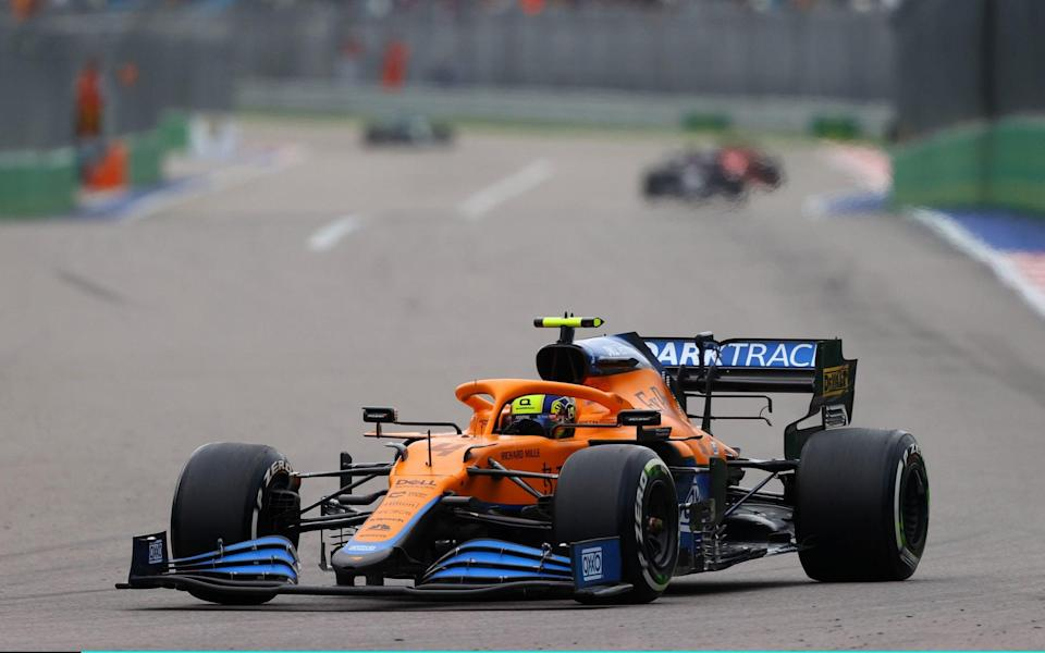 Lando Norris finished the race in seventh place - GETTY IMAGES