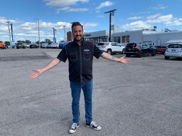 Ted Smith, sales manager at Jim Tubman Chevrolet in Ottawa, has been selling cars for 28 years and says he's never seen an inventory problem like this year.  (Amanda Pfeffer/CBC - image credit)
