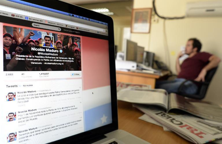 View of a computer screen showing a Twitter account (AFP Photo/Juan Barreto)