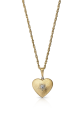 """<p><a class=""""link rapid-noclick-resp"""" href=""""https://uk.buccellati.com/en/jewelry/hearts/macri-heart-pendant-0?country=uk"""" rel=""""nofollow noopener"""" target=""""_blank"""" data-ylk=""""slk:SHOP NOW"""">SHOP NOW</a></p><p>Buccellati's delicate gold heart pendant has a finely-engraved surface, which resembles spun silken threads and delivers a beautiful, satin-like sheen. </p><p>Gold and diamond pendant necklace, £3,300, Buccellati.</p>"""