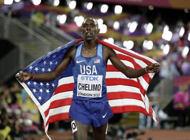Paul Chelimo considers himself a favorite in the 5000 meters ... if the 2020 Olympics aren't canceled or postponed. (AP)
