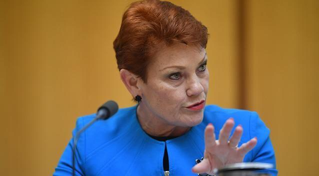 Pauline Hanson has called for a ban on Muslim immigration. Photo: AAP