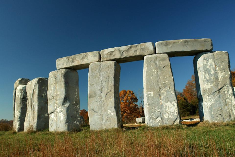 """<p>Stop in Natural Bridge, Virginia., to see a <a href=""""http://thefoamhenge.com/"""" rel=""""nofollow noopener"""" target=""""_blank"""" data-ylk=""""slk:Foamhenge"""" class=""""link rapid-noclick-resp"""">Foamhenge</a>: A full-size replica of Stonehenge made entirely out of Styrofoam.</p>"""