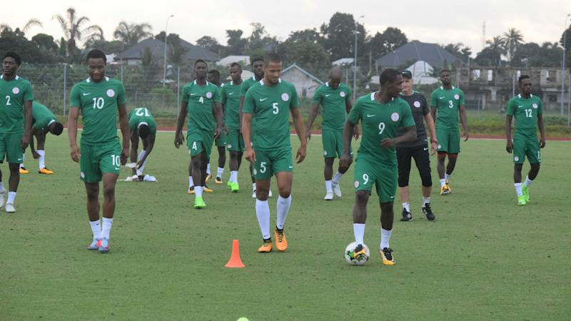 Super Eagles have first training session in Morocco
