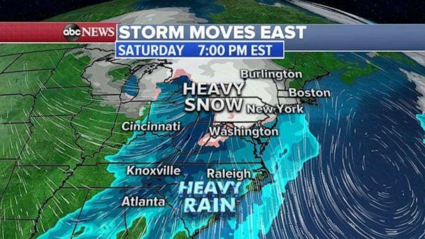 PHOTO: Monday night, a system will slide into the Rockies and eventually make its way to the Midwest and Northeast for the holiday week. (ABC News)