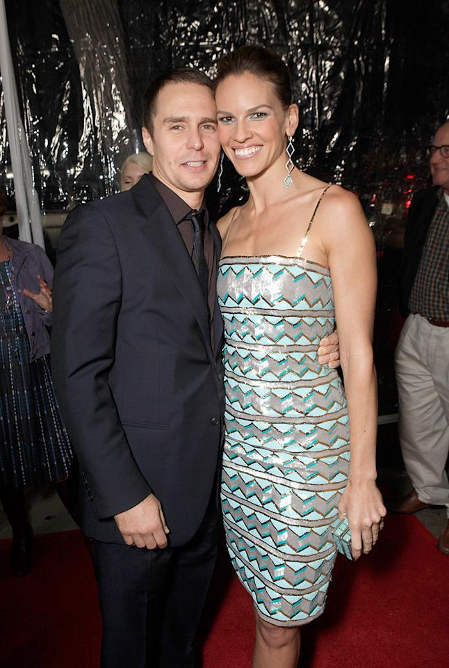"""<a href=""""http://movies.yahoo.com/movie/contributor/1800021961"""">Sam Rockwell</a> and <a href=""""http://movies.yahoo.com/movie/contributor/1800020739"""">Hilary Swank</a> at the Los Angeles premiere of <a href=""""http://movies.yahoo.com/movie/1810071450/info"""">Conviction</a> on October 5, 2010."""