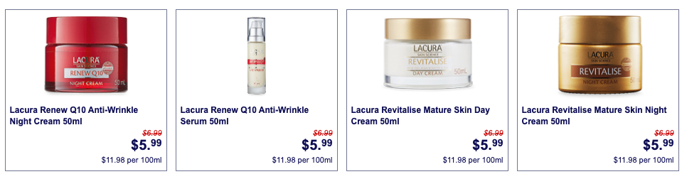 Cosmetics on sale as Aldi Special Buys this week.