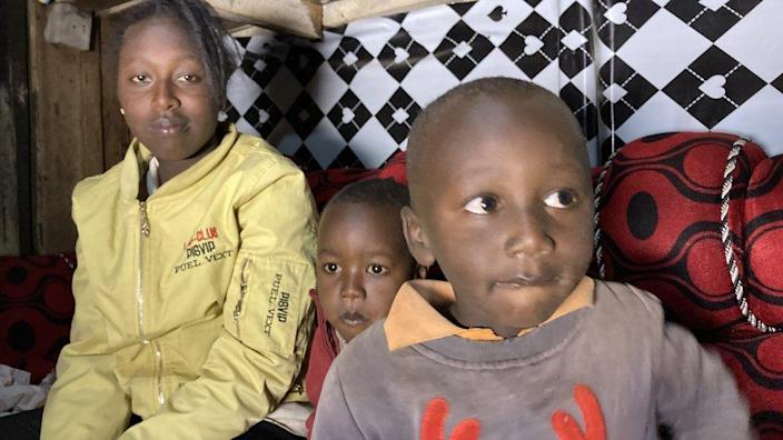 Karen Gatwiri and her two sons