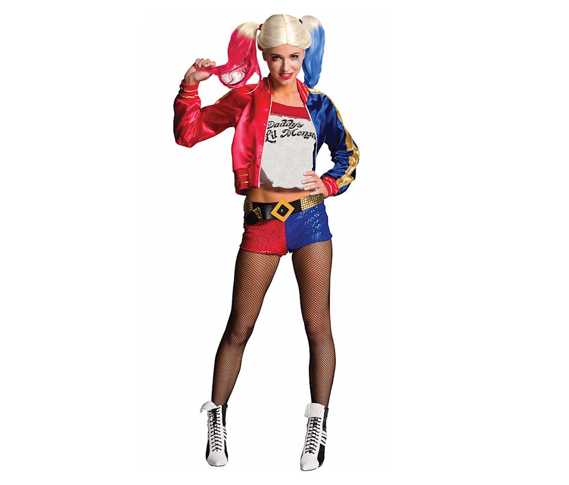 <p>Polyvore's most-searched costume should come as no surprise to anyone: It's the wisecracking, oversexualized, #problematic character Harley Quinn. Wear this costume at your own risk — namely, the risk of being the fifth person in satin short shorts at the party. (Photo: Courtesy of Party City) </p>