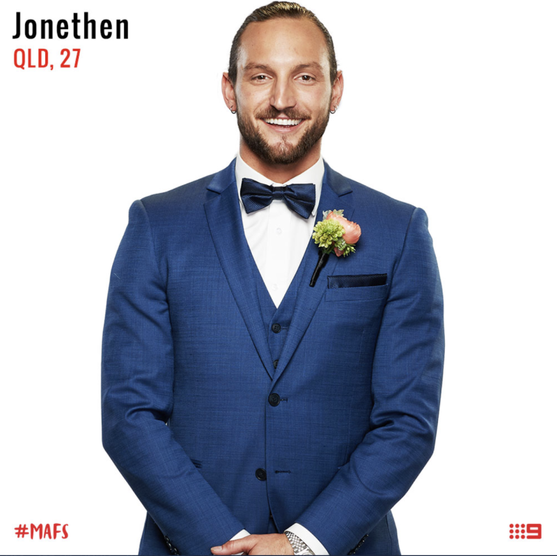 married at first sight Jonethen groom
