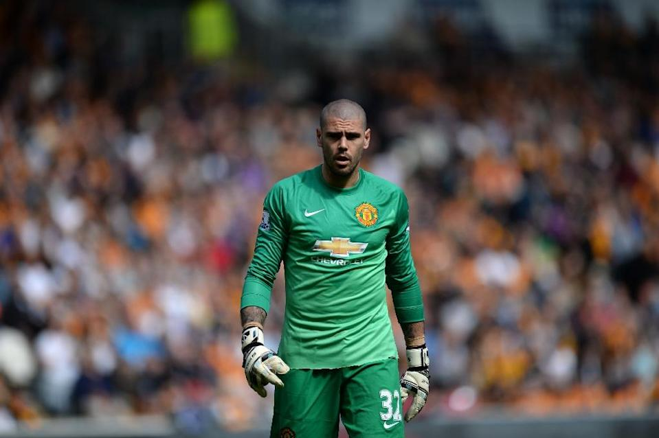 Goalkeeper Victor Valdes had a miserable time at Manchester United under then-manager Louis van Gaal, playing just twice before falling out with the Dutchman (AFP Photo/Oli Scarff)