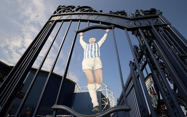 The Jeff Astle gates at The Hawthorns: Astle died from dementia, a disease that was ruled to have been caused by repetitive blows to the head - PA