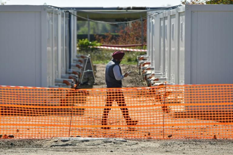 A 'container city' has been built in a town northeast of Hungary to house foreign workers