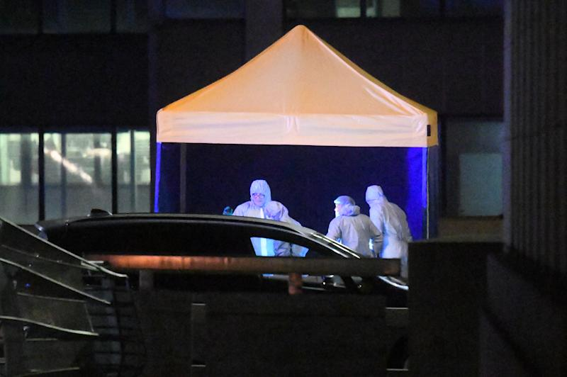 Forensic officers at the scene of an incident on London Bridge in central London after a terrorist wearing a fake suicide vest who went on a knife rampage was shot dead by police on November 29, 2019.