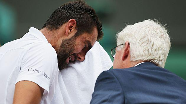 Cilic couldn't hold back the tears. Image: Getty