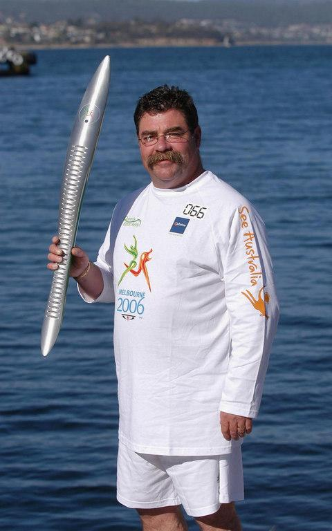 David Boon holding something that is not a can - Credit: Getty