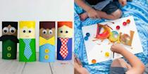 """<p>Store-bought gifts are always nice, but sometimes the best kind of gifts aren't ones you can guy. If your kids love crafting, then help them unleash their creativity by making a <a href=""""https://www.womansday.com/life/g32697573/diy-fathers-day-gifts/"""" rel=""""nofollow noopener"""" target=""""_blank"""" data-ylk=""""slk:DIY Father's Day gift"""" class=""""link rapid-noclick-resp"""">DIY Father's Day gift</a> this year via one of these easy Father's Day craft ideas. While your kids may not be old enough to make an elaborate <a href=""""https://www.womansday.com/food-recipes/food-drinks/g2428/fathers-day-brunch/"""" rel=""""nofollow noopener"""" target=""""_blank"""" data-ylk=""""slk:Father's Day brunch"""" class=""""link rapid-noclick-resp"""">Father's Day brunch</a> yet, there are plenty of draft and DIY gift ideas that little ones can manage (with maybe just a <em>little</em> help from an adult). Your children will feel extra-proud to show their dad, stepdad, father-in-law, uncle, grandfather, or beloved father figure a handmade work of art, and that special guy will likely treasure it forever. </p><p>Because of the ongoing Covid-19 crisis, it's possible you don't have a ton of cash to spend on presents this year. And even though there are tons of <a href=""""https://www.womansday.com/relationships/family-friends/g1151/fathers-day-presents/"""" rel=""""nofollow noopener"""" target=""""_blank"""" data-ylk=""""slk:affordable Father's Day gifts"""" class=""""link rapid-noclick-resp"""">affordable Father's Day gifts</a> that look anything but cheap, homemade kid crafts have the benefit of being both affordable <em>and </em>adorable. From handcrafted picture frames to handprint art, these cute crafts are sure to put a smile on Dad's face, whether it's his <a href=""""https://www.womansday.com/life/g32474446/first-fathers-day-gifts/"""" rel=""""nofollow noopener"""" target=""""_blank"""" data-ylk=""""slk:first Father's Day"""" class=""""link rapid-noclick-resp"""">first Father's Day</a> or his tenth. </p><p>Whether your kids are looking to give Dad a <a href=""""https://www.womansday"""