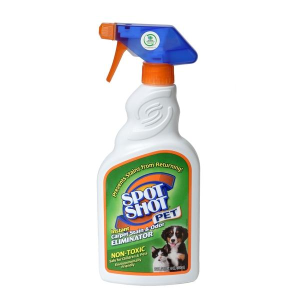Spot Shot Trigger Spray Green Non-Toxic PET Instant Carpet Stain and Odor Remover (Photo: Walmart)