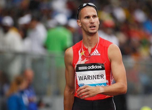 NEW YORK - JUNE 11: Jeremy Wariner of the US looks on after winning the Men's 400m during the adidas Grand Prix at Icahn Stadium on June 11, 2011 in New York City. (Photo by Mike Stobe/Getty Images)