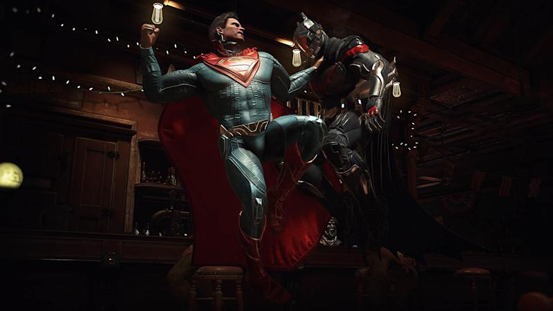 Superman and Batman duke it out in Injustice 2