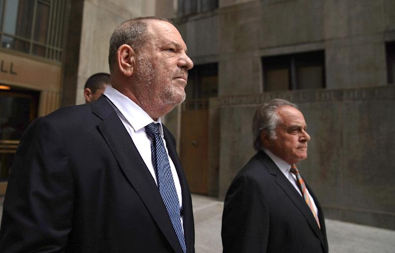 Harvey Weinstein (L) is an international pariah after being accused by more than 80 women of sexual misconduct