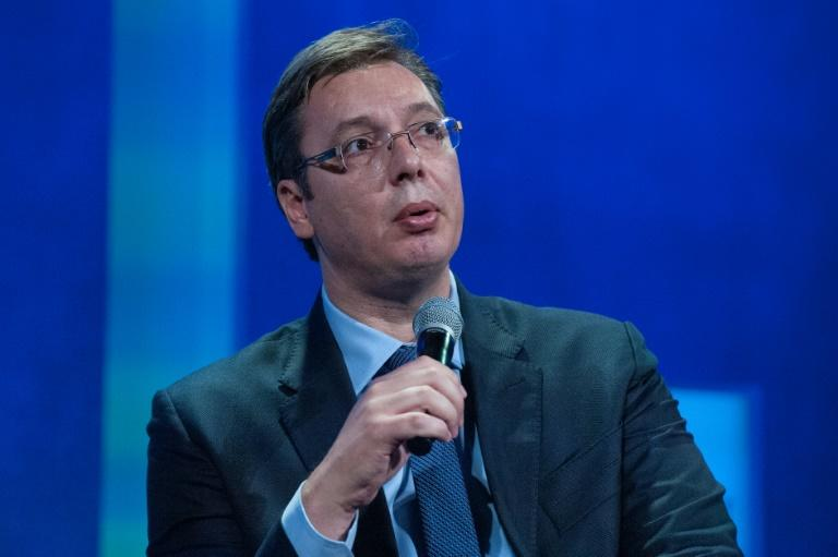 Prime Minister Aleksandar Vucic, pictured in September 2016, is a former ultra-nationalist but has since restyled himself as a pro-European reformist for the upcoming election in Serbia