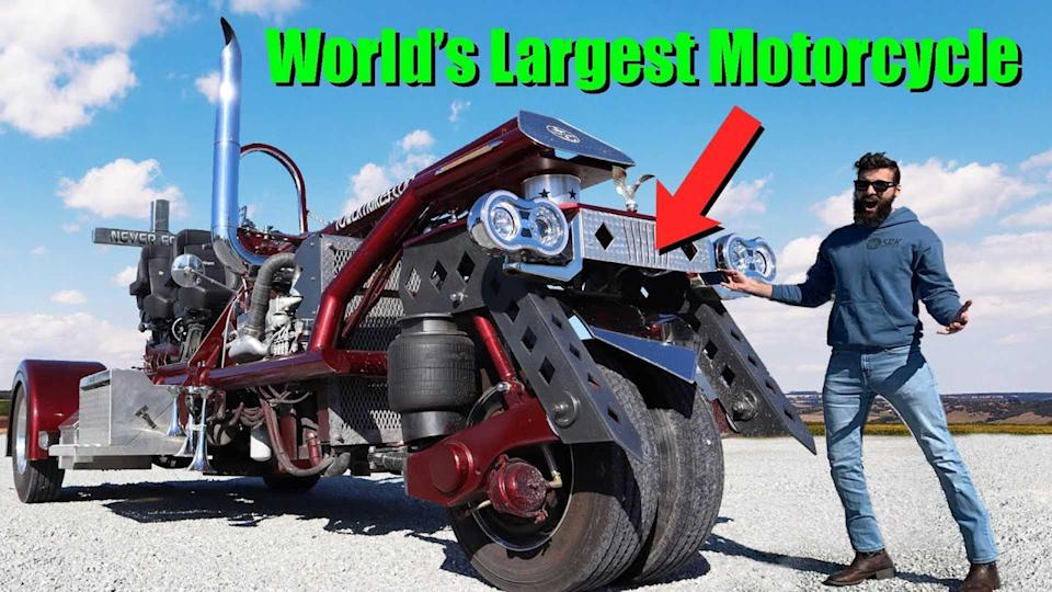 Driving The World's Largest Motorcycle