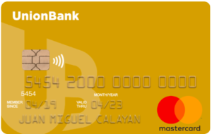 Best Credit Cards for Gadget Shopping - Unionbank Gold Mastercard