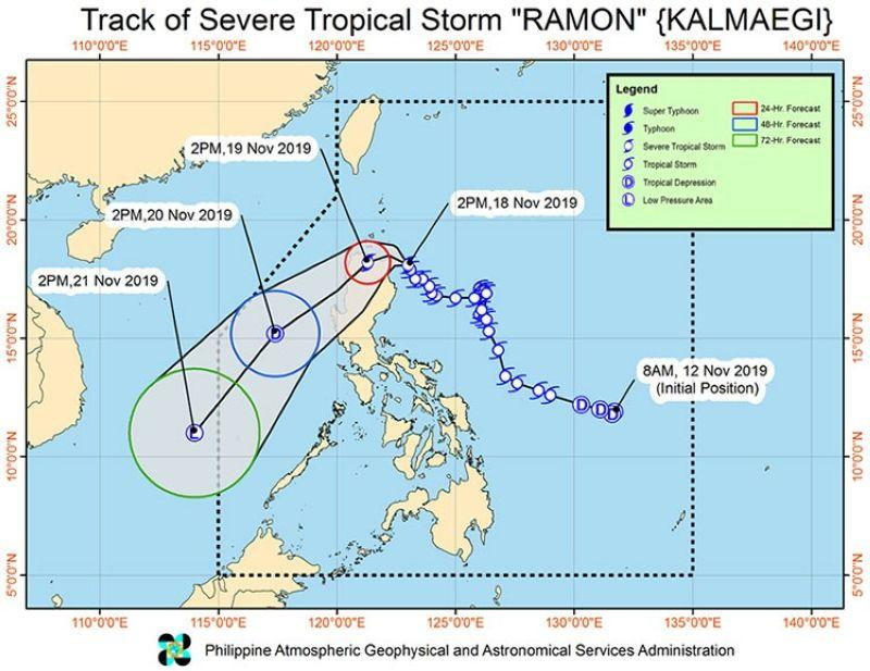 'Ramon' intensifies into severe tropical storm