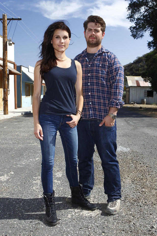 "HAUNTED HIGHWAY -- ""Santa Clara with Jack and Dana"" -- Pictured: (l-r) Dana Workman, Jack Osbourne -- (Photo by: Trae Patton/Syfy)"