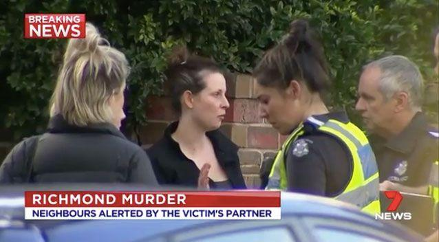 The woman's partner rushed to the neighbour's home for help. Photo: 7 News