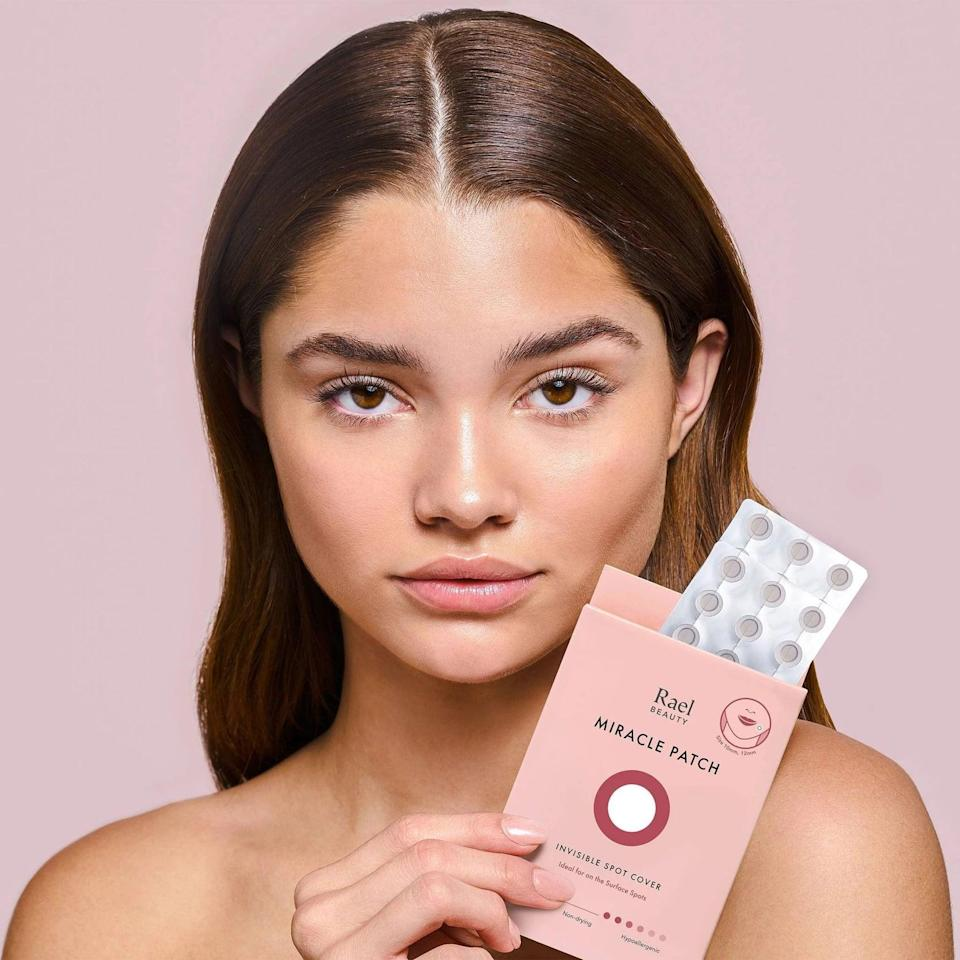 <p>Spot treat your blemishes with the <span>Rael Beauty Miracle Acne Patch Invisible Spot Cover - 48ct</span> ($12). The hydrocolloid instantly absorbs pus from surfaced acne and whiteheads. The patches are clear with a matte finish and have an extra thin outer edge that seamlessly blends in with all skin tones.</p>