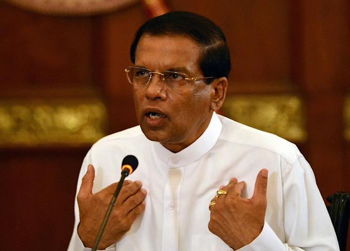Since his surprise victory over his former mentor, Sri Lankan President Maithripala Sirisena has struggled to impose his authority over his United people's Freedom Alliance party (AFP Photo/Ishara S.Kodikara)