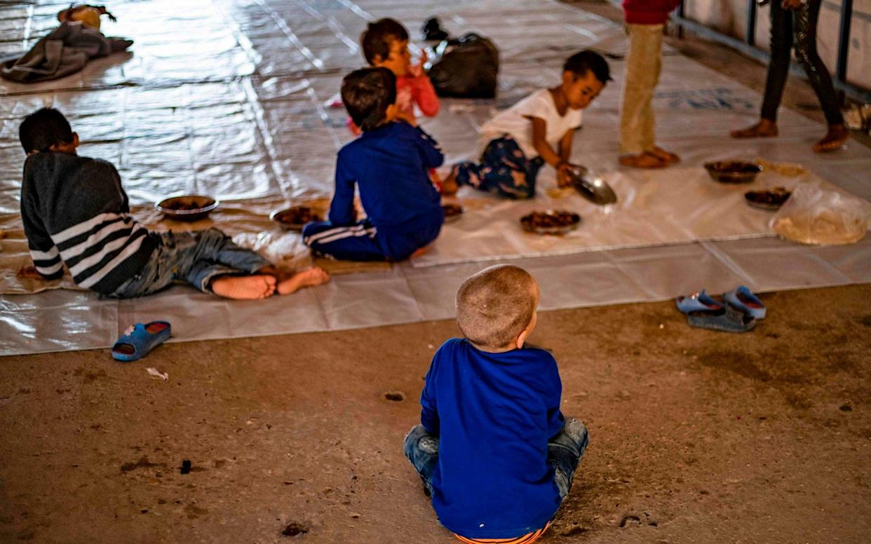 The British children were among 24 orphans cared for by volunteers at the Ain Issa camp - AFP