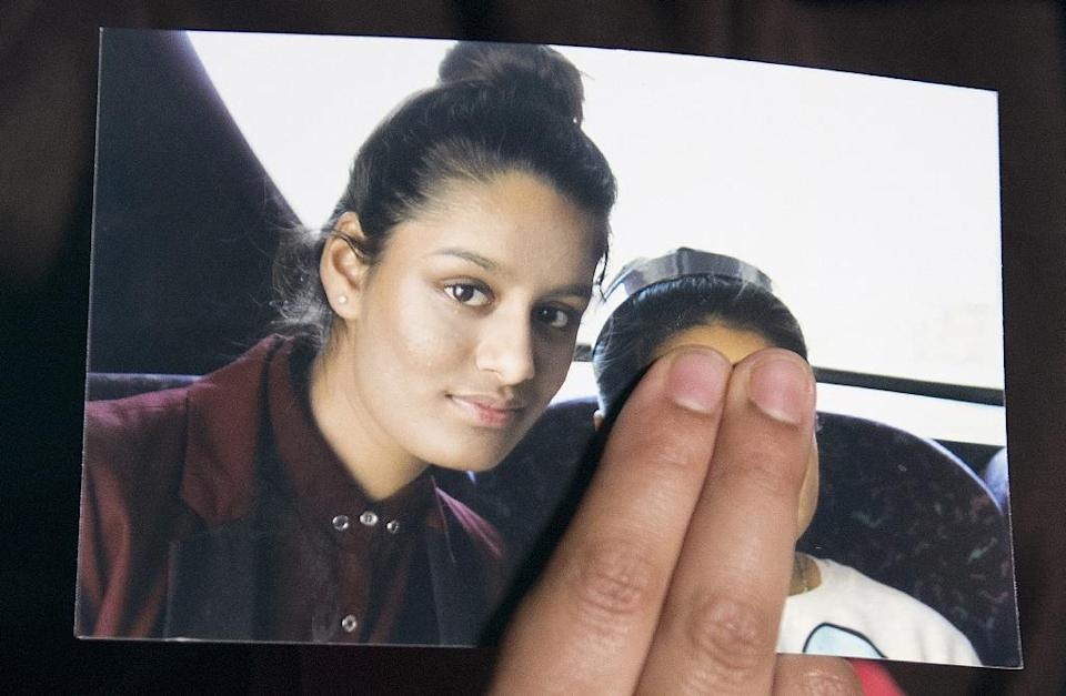 British teenager Shamima Begum went to Syria and married an Islamic State militant (AFP Photo/LAURA LEAN)