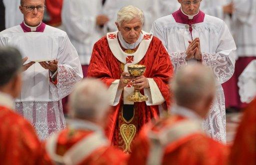 Pope Benedict XVI holds a mass at Saint Peter's Basilica June 29, in the Vatican. The Catholic Church could have avoided much of the scandal that currently surrounds it if women had been in positions of power, says a feminist insider in the Church
