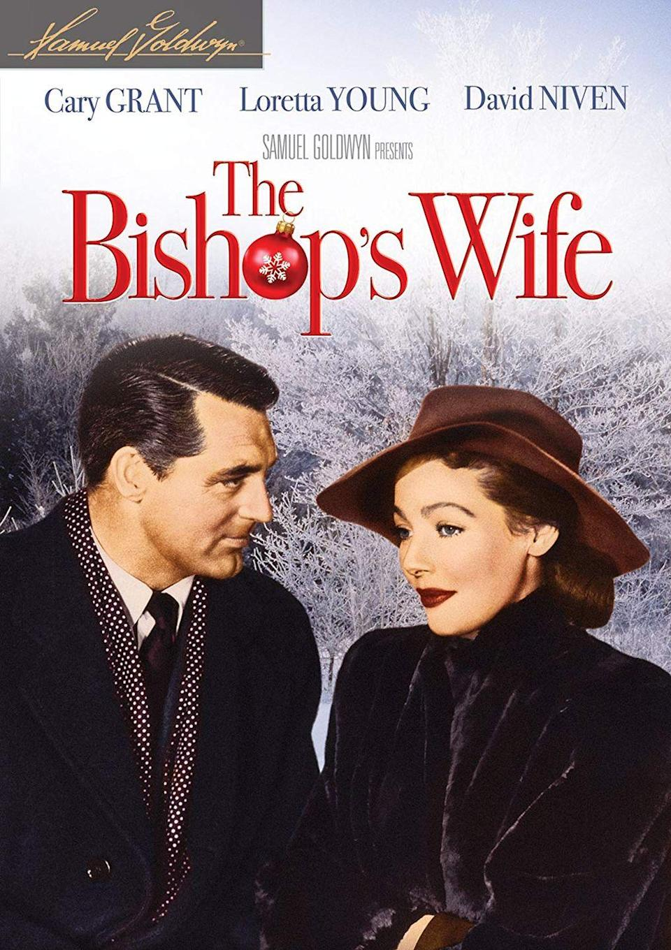"""<p>Cary Grant plays an angel in this 1947 movie that inspired '90s remake <em>The Preacher's Wife</em>, which stars Denzel Washington and Whitney Houston.</p><p><a class=""""link rapid-noclick-resp"""" href=""""https://www.amazon.com/Bishops-Wife-Henry-Koster/dp/B00AATV046/?tag=syn-yahoo-20&ascsubtag=%5Bartid%7C10055.g.1315%5Bsrc%7Cyahoo-us"""" rel=""""nofollow noopener"""" target=""""_blank"""" data-ylk=""""slk:WATCH NOW"""">WATCH NOW</a></p>"""