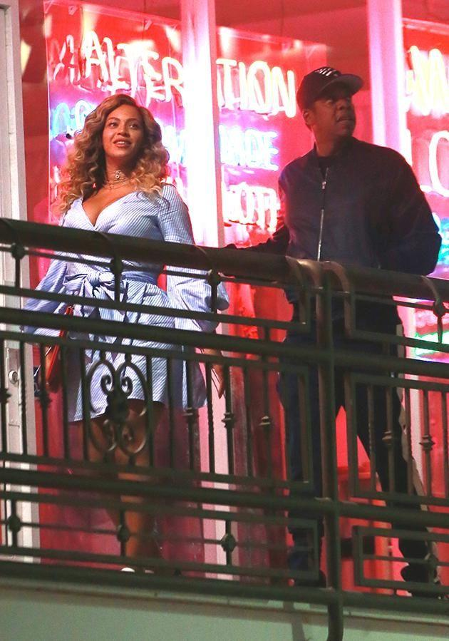 Bey and Jay looked relaxed and happy arriving to their sushi date in Hollywood. Source: Splash