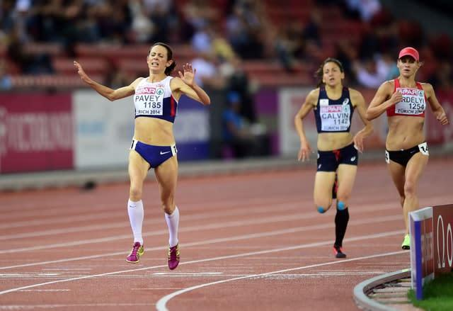 Jo Pavey, left, won gold at the European Championships in 2014 at the age of 40 (Adam Davy/PA)