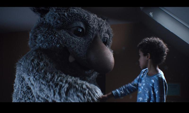 John Lewis's Christmas ad features Moz the monster, who lives under a little boy's bed.