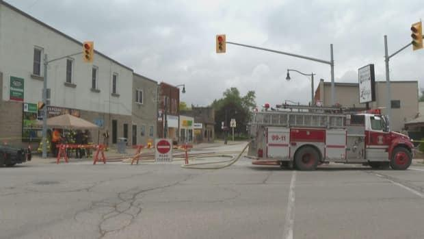 The gas leak in Wheatley was first reported on Wednesday afternoon. (Jacob Barker/CBC - image credit)