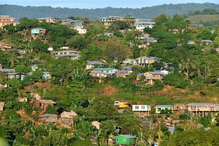 Houses are seen in Honiara in the Solomon Islands