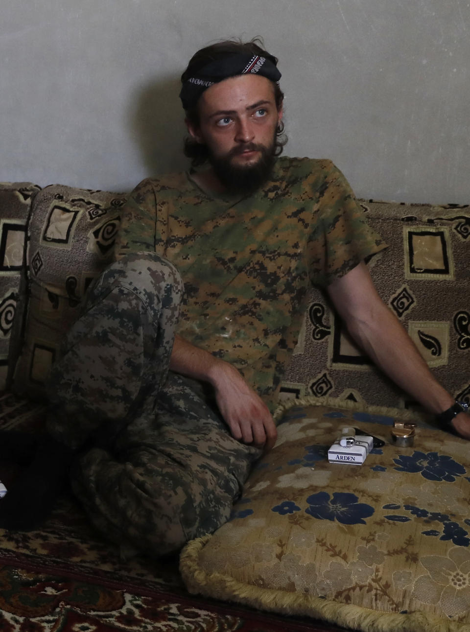 Jac Holmes had no previous military experience but went to fight against Isis in Syria aged 21. He died in October 2017 in the recently liberated city of Raqqa (AP Photo/Hussein Malla)