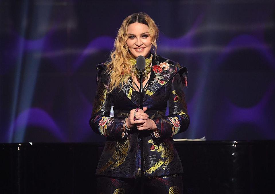 <p>Madonna's son Rocco arrived when the singer was 41 [Photo: Getty] </p>