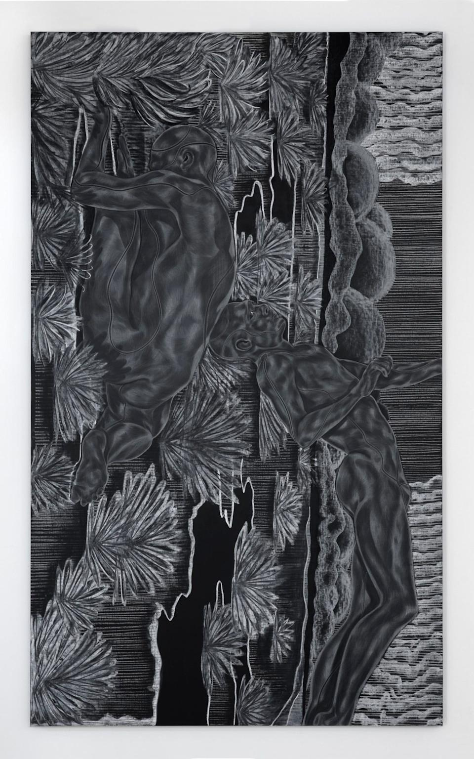 An artwork from Toyin Ojih Odutola's A Countervailing Theory - Jack Shainman Gallery, New York