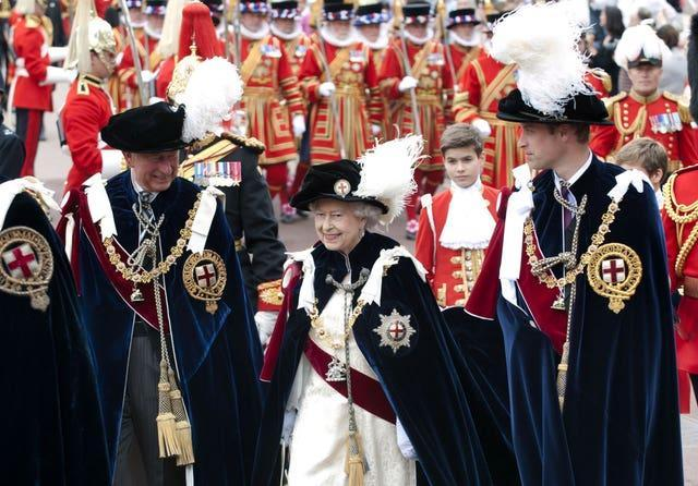 Royal Garter procession