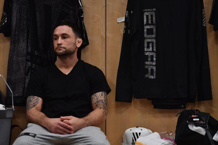 Frankie Edgar returns to the cage against Yair Rodriguez at UFC 211. (Getty)