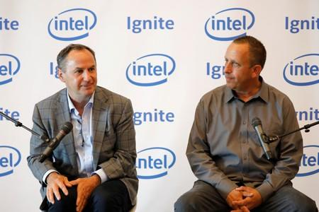 Intel CEO Robert Swan and Intel Israel CEO Yaniv Garty attend a roundtable event with members of the media in Tel Aviv