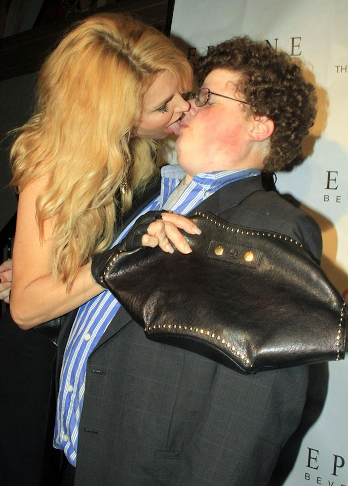 Brandi Glanville made out with actor Jesse Heiman at the 'Pieces of Ass' 10th Anniversary show at the Fonda Theater in Hollywood. Jesse is known for his Superbowl makeout session with supermodel Bar Refaeli in the now iconic Godaddy commercial.
