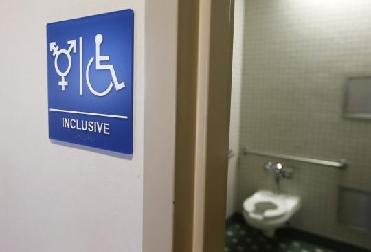 A gender-neutral bathroom is seen at the University of California, Irvine. (Photo: Lucy Nicholson/Reuters)